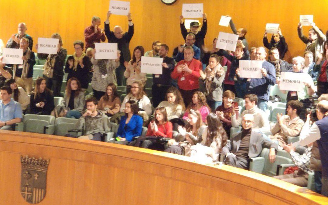 Aprobada la propuesta de IU para el impulso y desarrollo de la ley de Memoria Democrática de Aragón