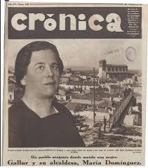 Localizados los restos de María Dominguez, primera alcaldesa democrática en España.